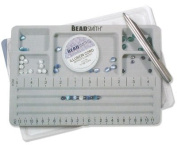 Beadaholique Travel Bead Design in Beading Board and Grey Flock with Lid, 20cm by 29cm