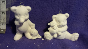 Clay Magic Sleepy Bears ornaments set of 2