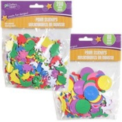 24 Pack - Crafters Square Assorted Self-Adhesive Foam Shapes