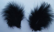 Black Turkey Marabou Craft Feathers - Mini Pkg