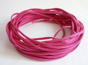 FUCHSIA 3mm x 1.5mm Faux Suede Cord Leather Lace Bracelet Necklace Making