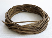 BROWN 3mm x 1.5mm Faux Suede Cord Leather Lace Bracelet Necklace Making