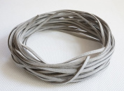 GREY 3mm x 1.5mm Faux Suede Cord Leather Lace Bracelet Necklace Making