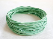 PALE GREEN 3mm x 1.5mm Faux Suede Cord Leather Lace Bracelet Necklace Making