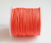 CORAL RED 1mm Superior Quality Chinese Knot Nylon Cord Shamballa Macrame Beading Kumihimo String
