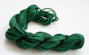DARK GREEN 1.5mm Chinese Knot Nylon Braided Cord Shamballa Macrame Beading Kumihimo String, 16-Yard
