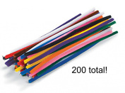 Chenille Stems for Bendable Animals, Figures, and More - Fun Kids Crafts - Be Creative- Bag of 200