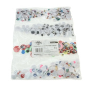 Creation Station Wiggle Eyes Assorted Size, Pack of 500 , Colours Black/ Lashes/ Coloured Centres and Coloured Eyes