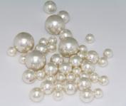 75 Jumbo Pearls Decorative Vase Filler Assorted Sizes for Wedding Centrepiece - IVORY