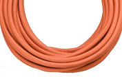 Full-grain leather cord, 3mm round Coral 5 yard