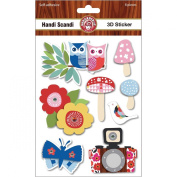 Handi Scandi 3D Stickers-W/Glitter Accents