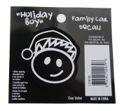Boy - Loverly Christmas Holiday Family Car Window Vinyl Decal Sticker