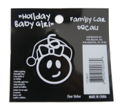Baby Girl - Loverly Christmas Holiday Family Car Window Vinyl Decal Sticker