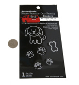 Loverly Dog Paw Family Car Window Vinyl Decal Sticker
