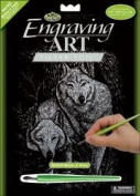 Silver Foil Engraving Art Kit 8X10-Wolves In The Trees