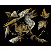 Royal Brush Gold Foil Engraving Art Kit, 20cm by 25cm , Baby Dragon