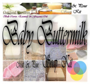 BABY BUTTERMILK Melt and Pour MP Soap Making Kit - Excellent Indoor Activity, Good Clean Fun, Hobby, Party Favours - Soap Making Kit By Oakland Gardens