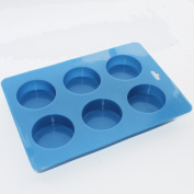 Round Guest Basic Soap Bar Silicone Mould Dia. 5.1cm /Cell