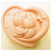 Longzang night owl mould S281 Craft Art Silicone Soap mould Craft Moulds DIY Handmade soap moulds