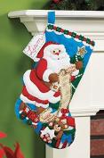 Bucilla Felt Applique Christmas Stocking Kit