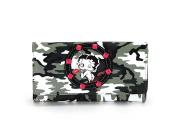 Betty Boop Camouflage Wallet with Metal Studs, BQ880CMN