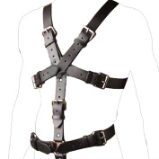 BEST CASE Cool Style Sexy Male Leather Wear Chastity Men O Ring Detachable Groyne Strap Full Body Bondage Harness