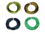 2mm Rattail Satin Cord for Kumihimo 4 6 Yard Pieces 24 Yards Per Package - Green Mix