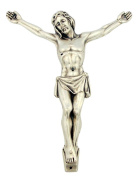 Silver Tone 11cm Jesus Christ Corpus and INRI Part for Pectoral Cross Crucifix