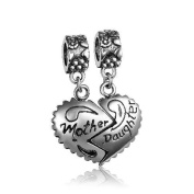 Soufeel 925 Sterling Silver Mother Daughter Dangle Charm European Bracelets Compatible