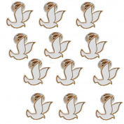 White Dove Lapel Pin (12 Pins) Christian Holy Spirit , Peace Dove