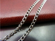 9.8m Chain for Bracelet Necklace Silver White Plated Twisted Cross Chains-jewellery Making Chain