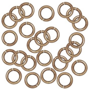 Brass Oxide Finish Brass Open Jump Rings 7.7mm 16 Gauge