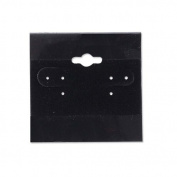 Hanging Earring Cards Black 5.1cm x 5.1cm (100-Pcs) Jewellery Display