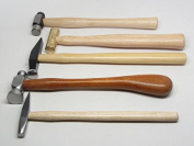 5 Hammers Chasing Riveting Brass Silversmithing Goldsmithing Ball Peen