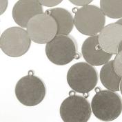 ImpressArt, Tag, Circle, 1.3cm , Aluminium Stamping Blanks- 24 pc.
