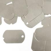 ImpressArt, Dog Tag, Military, Aluminium, 3.2cm x 1.9cm Stamping Blanks- 24 pc.