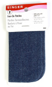 Singer Iron On Denim Cotton Patches, 13cm , Set of 2, 3-Pack