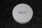 LA Crafts Brand 10cm x 2.5cm Smooth Foam Craft Disc - 12 Pack