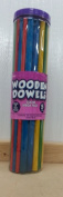 Wooden Dowels Craft Coloured 50 Pack