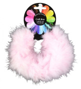 Touch of Nature 1-Piece Feather Marabou Craft Boa for Arts and Crafts, 1-Yard, Light Pink