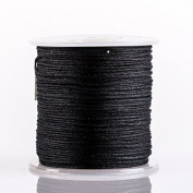 BLACK 0.8mm Superior Quality Chinese Knot Nylon Cord Shamballa Macrame Beading Kumihimo String