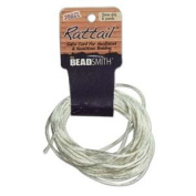 2mm Satin Rattail Braiding Cord Ivory 6 Yards For Kumihimo and Craft