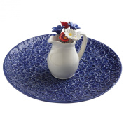 Grasslands Road American Bloom Ceramic Appetiser Serving Tray with Picks in Pitcher Holder, 20cm , Gift Boxed