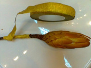 Gold Floral Stem Wrap.. 1.3cm X 30 Yards