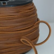 "Light Brown Leather Belting Lace 5mm (3/16"") x 10m"