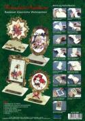 Ecstasy Crafts Christmas Easel Frame Card Kit (4) - Classic Christmas