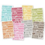 Sn@p! Cardstock Stickers 11cm X 17cm Sheets 8/Pkg-letters