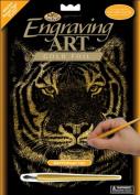 Royal Brush - Gold Foil Engraving Art Kit 20cm x 25cm -Bengal Tiger