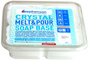 Stephenson Vegan and Kosher SLS-Free Glycerin Melt and Pour Soap Base, 0.9kg, White