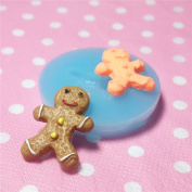 Kawaii Cute Ginger Man Cookie Fondant Silicone Mould for Cake Cookie Decorating Chocolate Soap Epoxy Clay Fimo Clay 026LBQ